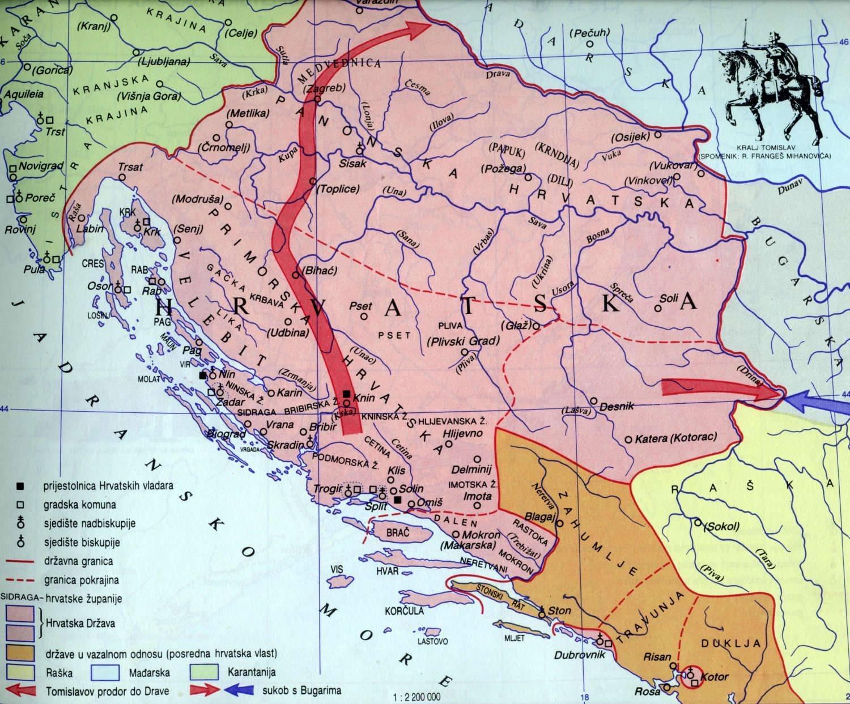 Хрвати измислили карту средњовековне Хрватске